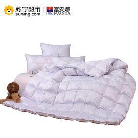 【易购】富安娜羽绒被子加厚保暖冬厚白鹅绒被芯 格拉斯哥鹅绒冬厚被 1.8m床(230*229cm) 粉色