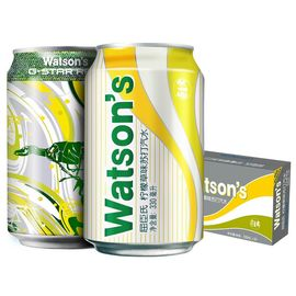 【易购】屈臣氏(Watsons)柠檬草味苏打汽水330ml*24 整箱