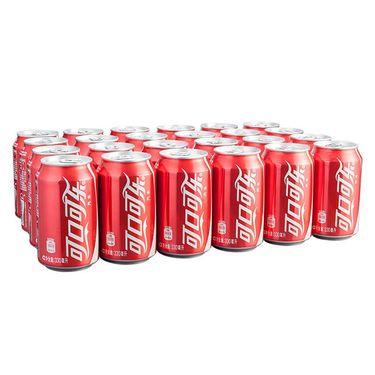 【易购】可口可乐汽水 330ml*24罐 整箱装