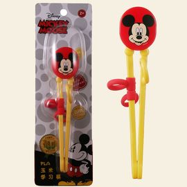 Disney/迪士尼 宝宝玉米训练筷儿童练习筷子婴幼儿家用餐具纠正学习筷子 DM2292红色米奇