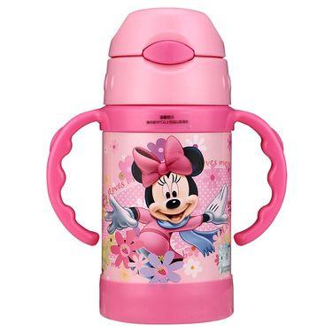 Disney/迪士尼 保温杯 304不锈钢弹盖儿童无毒吸管水壶带手柄男女宝宝不锈钢水杯 HM1966N 260ML