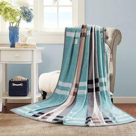 南极人 法兰绒春秋毛毯双人盖毯1.8*2m