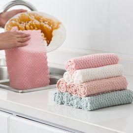 好巧 加厚抹布厨房家务清洁布不掉毛不沾油吸水洗碗巾擦桌子洗碗布