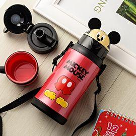 Disney/迪士尼 儿童保温杯带吸管三盖不锈钢防摔水壶 学生幼儿园 宝宝保温瓶 GX-5943