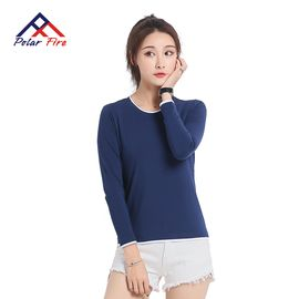 Polar Fire 极地火女士夏季休闲T恤户外运动纯棉透气长袖体恤圆领上衣 CXT301