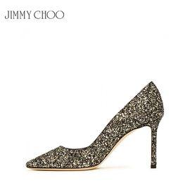 Jimmy Choo /周仰杰 女士尖头高跟鞋 金水晶色 赠送厚木丝袜 洲际速买