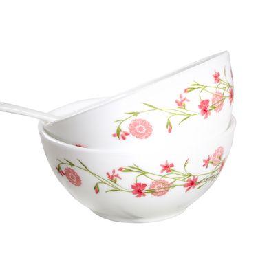 乐美雅 简约粉色餐碗汤碗沙拉碗21CM 2只装