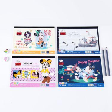 广博 迪士尼B5小学生儿童图画本画画本空 白彩铅纸 颜色随机