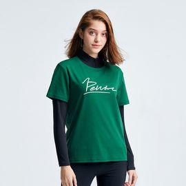 伯希和 户外运动T恤 女2019春夏圆领纯棉t恤舒适透气百搭打底衫