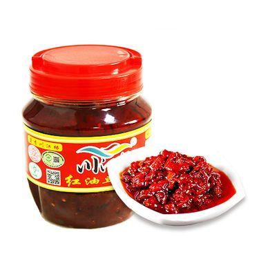 橙王哥 红油豆瓣酱 淅川辣酱 农家秘制调味品 500g*3瓶