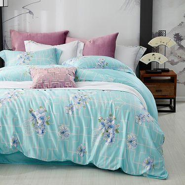 梦洁美颂 梦洁家纺出品 全棉床上用品床单被套 印花四套件:翠园枝