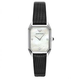 EMPORIO ARMANI 阿玛尼 手表石英皮带女表新款小方盘时尚女士腕表