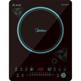 美的 电磁炉家用炒菜电池炉火锅智能套装全自动特价触摸屏RT2173 黑色