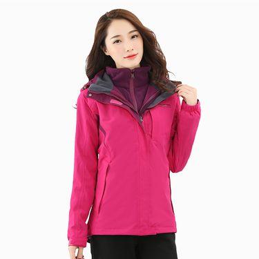 Polar Fire 极地火冬季户外冲锋衣女士三合一两件套防水防风加厚抓绒登山服CY214