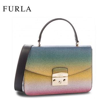 FURLA /芙拉METROPOLIS系列女士潮流手提单肩链条锁扣包978015多色拼色 洲际速买