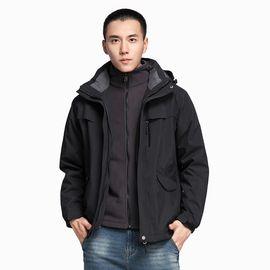 Polar Fire 户外潮牌冲锋衣男款加绒加厚三合一两件套可拆冬季防风防水登山服CY122
