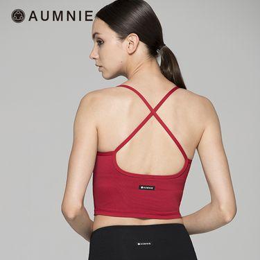 aumnie 澳弥尼丨女士健身运动瑜伽服跑步内衣塑形细肩带CT吸引背心
