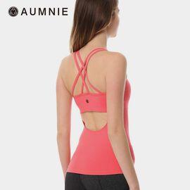 aumnie 澳弥尼丨女运动瑜伽服健身跑步塑形防震美背含胸垫翻译背心