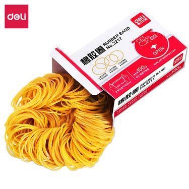 得力 (deli)100g实用橡皮筋/乳胶圈/牛皮筋 单盒装 3217
