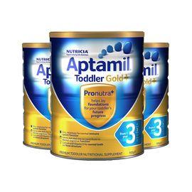 Aptamil 新西兰爱他美 金装爱他美婴儿配方奶粉 3段 900克 1-2岁 三罐