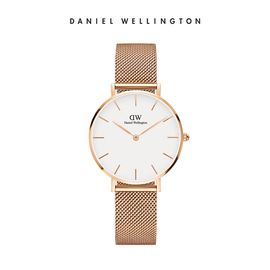 Daniel Wellington 丹尼尔惠灵顿 DW手表新款32mm金色边白盘不锈钢米兰风格表带 DW00100163
