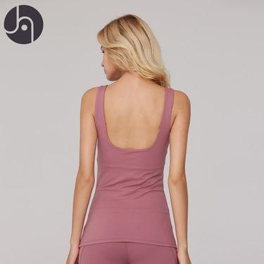 jambeau 女士运动背心内置文胸弹力U型美背背心跑步瑜伽两件套健身柔软运动服上衣