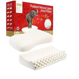 Mane'n Tail/箭牌 【男女搭配】TAIPATEX 天然乳胶枕按摩护颈枕+高低颗粒按摩枕