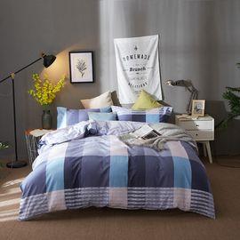 恒源祥 全棉印花四件套-马德里 1460813-3T 床上用品套件 床单枕套被套纯棉组合(200*230cm)