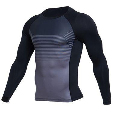 范斯蒂克 春夏新款T恤男弹力速干短袖轻薄透气圆领上衣紧身健身服 MBF9021