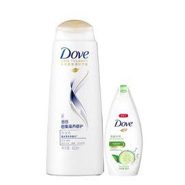 Dove/多芬 多芬密集滋养修护洗发乳 400ML 有限期2020年6月28日 送多芬清透水润沐浴乳300g送完即止