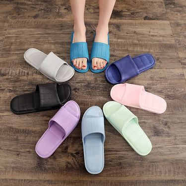 韩纳斯 男女情侣拖鞋2双装 马卡龙色 夏季室内外居家 凉拖鞋pvc静音防滑地板浴室拖鞋