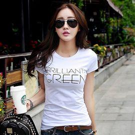 雅可希 夏新款女装上衣t恤韩版修身打底衫女半袖白色棉短袖T恤女883