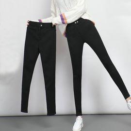 雅可希 2019春装新款黑色魔术裤打底裤女裤外穿高腰外穿小脚铅笔长裤8558