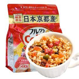 Calbee/卡乐比  Calbee/卡乐比 卡乐比 {XS} 北海道富 果乐水果谷 物燕麦片500g*1新老 包装随机发