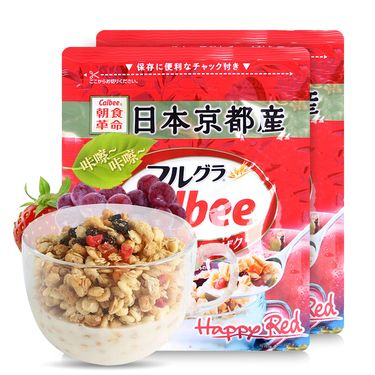 Calbee/卡乐比 北海道富果乐水果谷 物燕麦片500g*3新老包装随机发