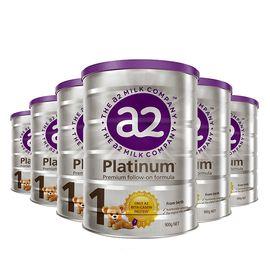 a2 白金升级版 婴儿配方奶粉1段0~6个月900克*6罐(新西兰原装)