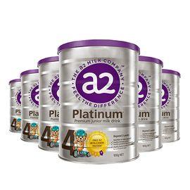 a2 白金儿童配方奶粉四段 3岁以上 900克/罐 6罐装