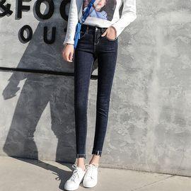 雅可希 2019女装打底牛仔裤九分韩版修身显瘦小脚裤子夏季弹力铅笔裤子3375