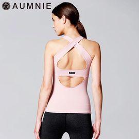 aumnie 瑜伽服女运动健身跑步塑形防震美背含胸垫韵律背心