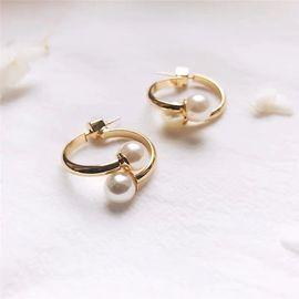 Silver 珍珠耳环 韩国原创设计 buyer