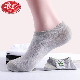 浪莎 6双男士夏季休闲棉袜纯棉短筒低帮船袜隐形袜子MC090