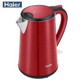 海尔 (Haier)电水壶热水壶电热水壶304不锈钢1.5L容量 双层防烫烧水壶 HKT-D5R