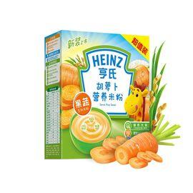 亨氏 HEINZ胡萝卜营养米粉 400克/盒【片状米粉更细腻】