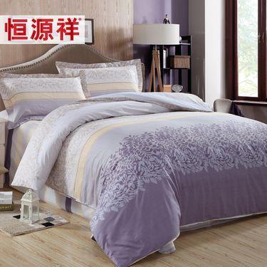 恒源祥 家纺 四件套纯棉 床品套件全棉斜纹印花床单被罩床上用品 多款可选