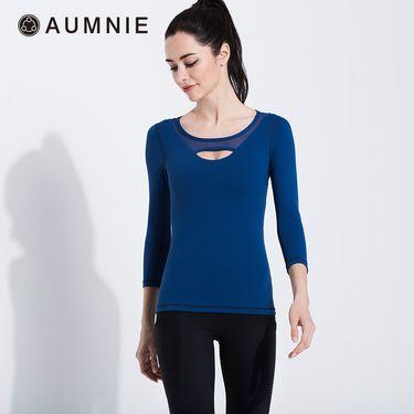 aumnie 澳弥尼丨女士运动瑜伽服健身跑步塑形防震含胸垫冰块T恤
