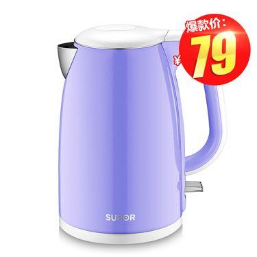 苏泊尔  SWF15E19A电热水壶304不锈钢烧水壶电水壶自动断电 北京地区/偏远地区不发货