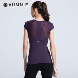 aumnie 澳弥尼丨女士运动瑜伽服健身跑步塑形防震含胸垫珍珠T恤