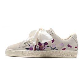 PUMA 板鞋女鞋休闲鞋小花朵刺绣蝴蝶结松糕鞋运动鞋367811