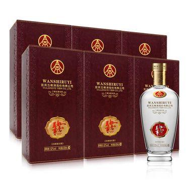【易购】五粮液股份 万事如意 纯香 52度 500ml*6 整箱装 浓香型白酒