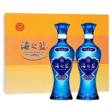 【易购】洋河(YangHe) 蓝色经典 海之蓝42度 礼盒装白酒 480ml*2瓶 浓香型